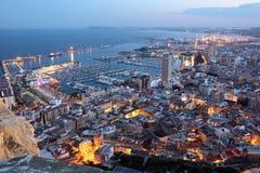 dusk Ισπανία της Αλικάντε Στοκ Εικόνες
