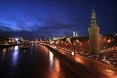dusk κόκκινο τετράγωνο Στοκ Φωτογραφία