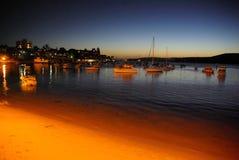 dusk λιμάνι ανδρικό Στοκ Εικόνα