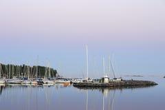 dusk λιμάνι Στοκ εικόνα με δικαίωμα ελεύθερης χρήσης