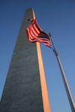 dusk μνημείο Ουάσιγκτον Στοκ Εικόνες
