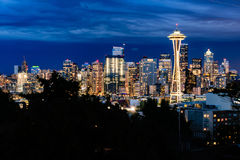 dusk ορίζοντας του Σιάτλ Στοκ φωτογραφίες με δικαίωμα ελεύθερης χρήσης