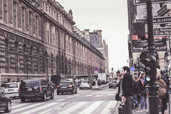 dusk Παρίσι στοκ εικόνες