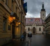 dusk περίπατος Κροατία στοκ εικόνα με δικαίωμα ελεύθερης χρήσης