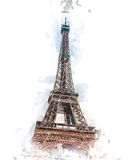 dusk πύργος του Άιφελ απεικόνιση αποθεμάτων