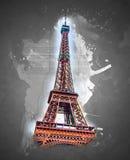 dusk πύργος του Άιφελ στοκ εικόνες