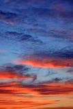 dusk σύννεφων Στοκ Εικόνα