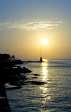 dusk της Βηρυττού manara στοκ εικόνα με δικαίωμα ελεύθερης χρήσης