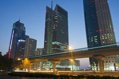 dusk του Ντουμπάι όψη στοκ εικόνες με δικαίωμα ελεύθερης χρήσης