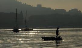 dusk των Καννών λιμάνι στοκ φωτογραφία