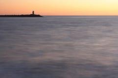 dusk φάρος Στοκ Φωτογραφία
