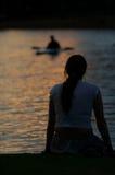 dusk χαλαρώνει Στοκ Εικόνες
