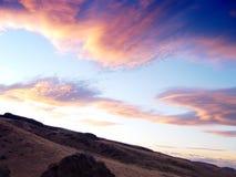 Dusk. Sunset in the desert Royalty Free Stock Photos