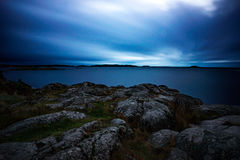 Dusk in archipelago Royalty Free Stock Image