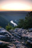 Dusk Atop Of Mountain Royalty Free Stock Photography