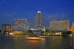 Dusk in Bangkok Royalty Free Stock Image
