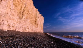 Dusk at the Beach. Birling Gap. Eastbourne UK Stock Photo