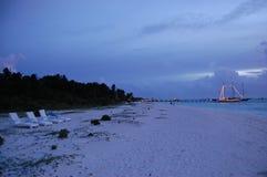 Dusk on the beach Royalty Free Stock Photography