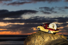 Dusk Beach Pickup Royalty Free Stock Photography