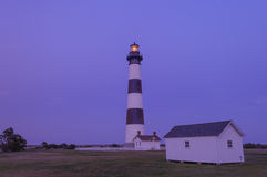 Dusk at the Bodie Lighthouse on North Carolina's Outer Banks Royalty Free Stock Photos