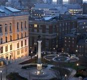 Dusk in boston royalty free stock photography