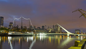 Dusk in Buenos Aires. Puerto Madero neighborghood or disctrict i Royalty Free Stock Photo
