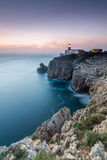 Dusk in Cape St. Vincent, Sagres, Algarve, Portugal Royalty Free Stock Photos