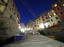 Dusk in Cinque Terre Royalty Free Stock Photography