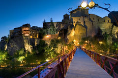 Dusk in the city of Cuenca Royalty Free Stock Photos