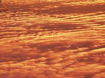 DUSK, CLOUD PATTERN Stock Photo