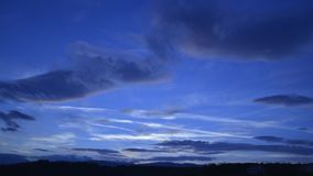 Dusk clouds stock footage
