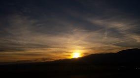 Dusk. Colorado springs sunset Royalty Free Stock Image