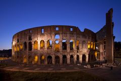 dusk colosseum ορόσημα Ρώμη της Ιταλίας Στοκ Εικόνα