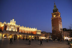 Dusk in cracow Royalty Free Stock Photo