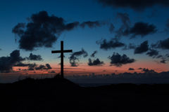Dusk Cross Royalty Free Stock Images