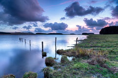 Dusk at Crowdy on Bodmin Moor Stock Photography
