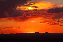 Dusk in the Desert-1. Beautiful photo of West Texas desert at dusk Stock Images