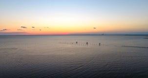 Sunset at Bayfront Park in Daphne, Alabama. Dusk at Eastern shore park of Mobile Bay Stock Photos