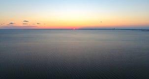 Sunset at Bayfront Park in Daphne, Alabama. Dusk at Eastern shore park of Mobile Bay Stock Photo
