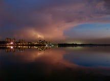 dusk electrifying στοκ φωτογραφία