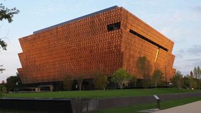 Dusk Exterior Establishing Shot National Museum of African American History and Culture stock footage
