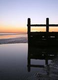 dusk groyne Στοκ Εικόνες