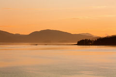Dusk In the Gulf of Alaska royalty free stock images