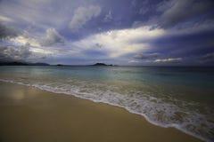 Dusk on a hawaii beach Royalty Free Stock Photos