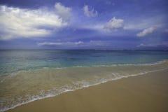 Dusk on a hawaii beach Stock Photography