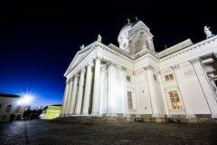 Dusk at Helsinki Cathedral Stock Images
