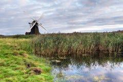 Dusk at Herringfleet Windmill Stock Photo