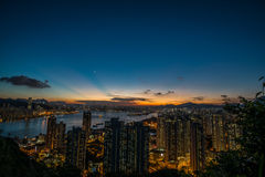 Dusk of hong kong Stock Photos