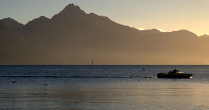 Dusk Lake Wakatipu Royalty Free Stock Images