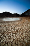 Dusk in a land of drought Royalty Free Stock Photos